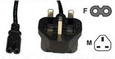 World Of Data UK Power Cord - 2 Pin (Figure 8) - 3A Fuse - Cable Lead - 10M