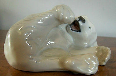 Royal Copenhagen Polar Bear Cub at play # 729