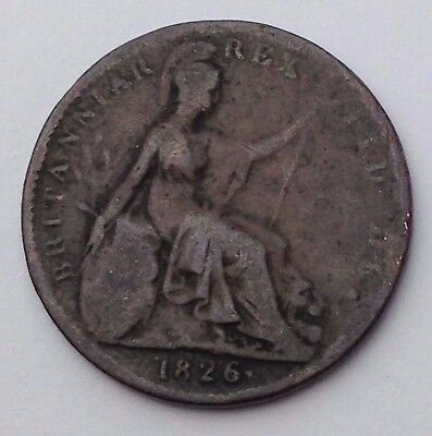Dated : 1826 - One Farthing - Coin - King George IIII - Great Britain