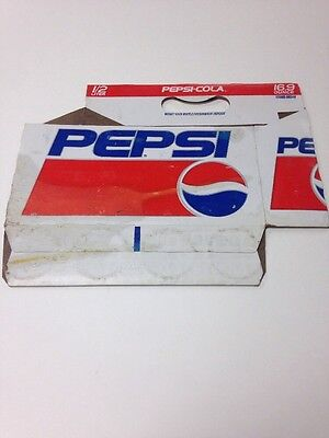 Pepsi cardboard bottle holder crate carrier carton bottle caddie soda 16.9 Oz