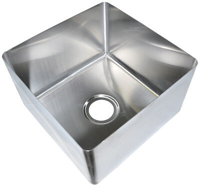 "BK Resources 18"" x 24"" x 14"" One Compartment Stainless Steel Weld-In Sink"