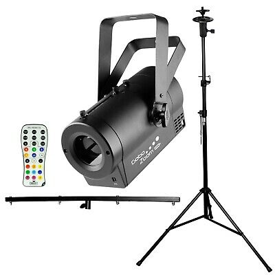 Chauvet DJ Gobo Zoom USB Gobo Projector with T-Bar Stand + Remote Control
