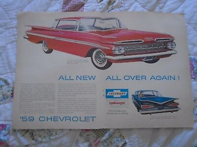 L25 1959 Chevrolet Impala & Bel-air 2 page Canada print ad advertisement