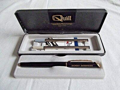 Vintage Quill Ball Point Pen Advertising)Shumsky Enterprises) NEW IN BOX