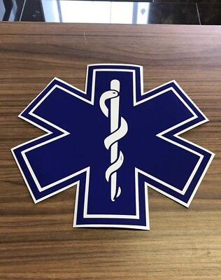Magnetic sign Star If Life For Event First Aid Medic Ambulance 250mm