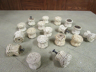 18 Vintage Wicker Knobs Pull Cabinet Furniture with Hardware
