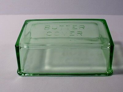 Vintage Green Depression Glass BUTTER COVER