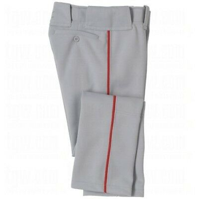 (XX-Large, Grey/Red) - Mizuno Youth Select Pro Piped Pant. Best Price