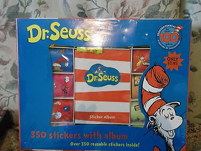 Dr. Seuss Boxed Sticker Album with 350 stickers 100 years of Seuss Anniversary
