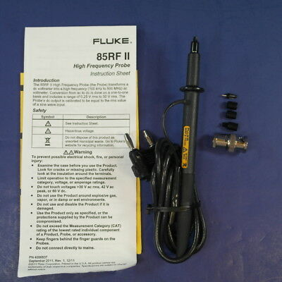 New Fluke 85RF II High Frequency Probe, See Details!