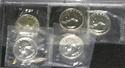 1960 Washington Silver Quarter Gem Proof lot of 5 coins in US Mint cello
