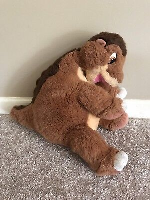"Vintage 1988 Land Before Time Little Foot Dinosaur Gund 16"" Stuffed Plush Toy"