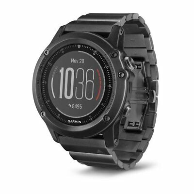 Garmin fenix 3 HR Slate Gray GPS Watch With Stainless Steel Band 010-01338-7C