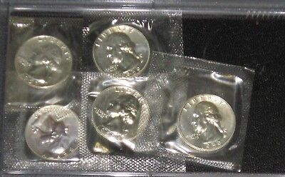 1959 Washington Silver Quarter Gem Proof lot of 5 coins in US Mint cello