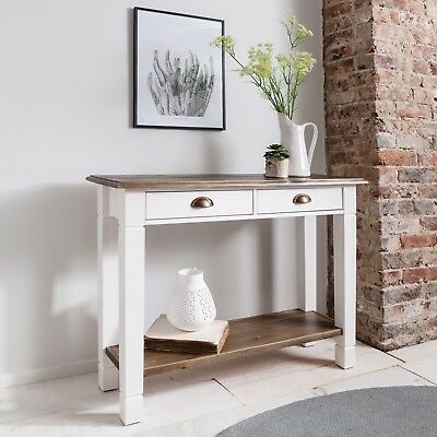 Console Table Double Telephone Table Hallway Canterbury In Choice of Colours