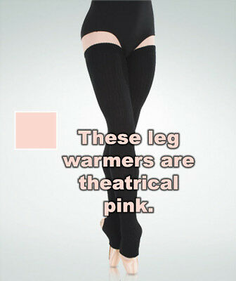 "Body Wrappers 92 Adult 48"" Theatrical Pink X-Long Stirrup Leg/Thigh Leg Warmers"