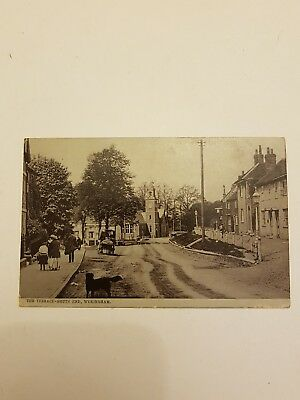 REAL PHOTOGRAPHIC POSTCARD THE TERRACE - SHUTE END, WOKINGHAM POSTED in 1915