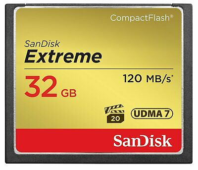 SanDisk Extreme 32GB Compact Flash CF Card 120MB/s SDCFXS-032G-A46 NEW