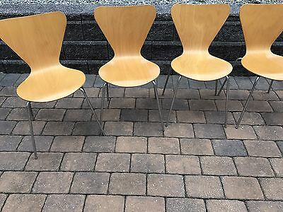 Arne Jacobsen Fritz Hansen Series 7 Style Chair 12 In Total