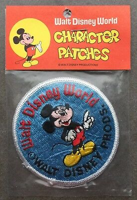 Vintage Walt Disney Character Patches Iron On Patch Mickey Mouse Blue White