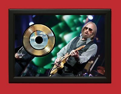 Tom Petty - Don't Come Around Here No More - Custom Framed 24k Gold LP Display