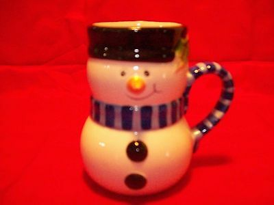 Snowman Cup Candle Holder Candy Cane Holder