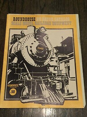 Roundhouse H-O Gauge Catalog 1969 Scale Model Railroad Equipment vintage train