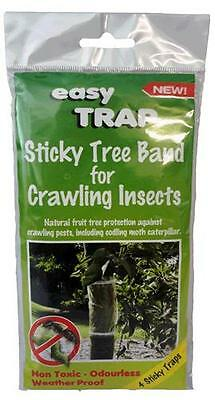 Easy Trap Sticky Tree Band Fruit Caterpiller Codling Moth Insects x4 Bands Safe