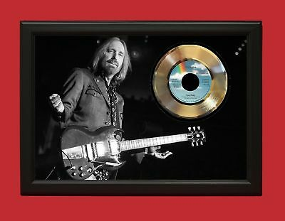 Tom Petty And The Heartbreakers The Waiting - Custom Framed 24k Gold LP Display