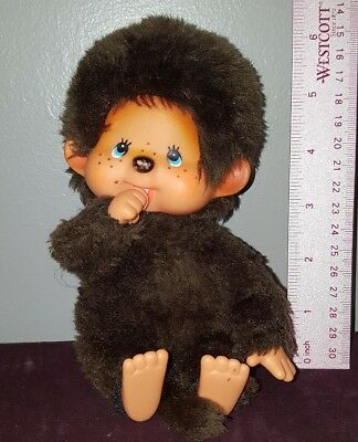 "Sekiguchi Monchhichi 8"" STUFFED PLUSH MONKEY SUCKING THUMB"
