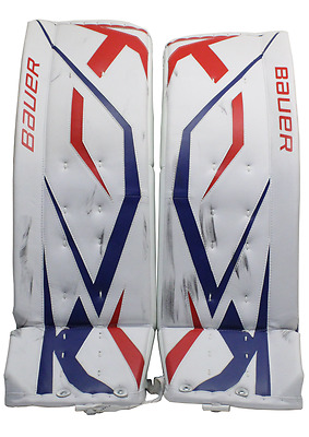 Hockey NHL Bauer Goalie Leg Pads KING HENRIK LUNDQVIST Game Worn Used NY Rangers