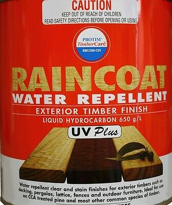 Raincoat UV Plus Timber Protectant 20L Best Clear Deck Fence Water Repellent