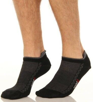 (X-Large, Black/Grey) - point6 Men's Running Ultra Light Micro Socks