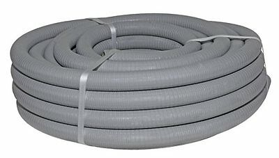 Suction Water Hose Grey 38mm x 20m Flexible PVC Industrial Farming