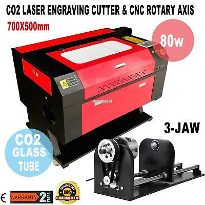 80w CO2 USB Laser Engraving Cutting Machine Engraver Cutter w/ CNC Rotary Axis