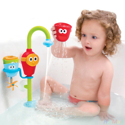Bath time Cartoon Flow 'N' Fill Faucet Spout Bath Toy Learning Fun Gift Toy Set