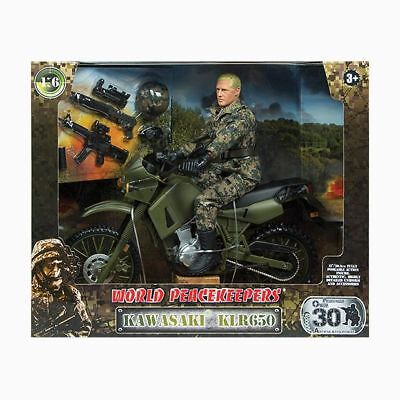 NEW 1:18 World Peacekeepers - Kawasaki KLR650 90615