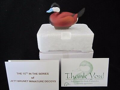 Jett Brunet Ducks Unlimited Miniature decoys Ruddy Duck 2013 15th in series