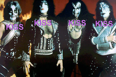 Kiss In Costume Gears Posing For Publicity Rare Unseen Press Photo