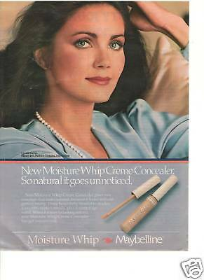 Lynda Carter Wonder Woman Maybelline Color Ad Page Ladies' Home Journal Rare!!