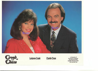 Lorianne Crook And Charlie Chase Press Crook & Chase Tv Show Press Kit W/ Photos