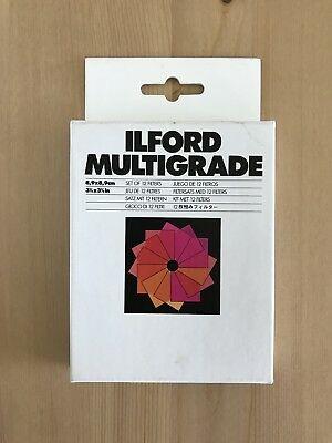 Ilford Multigrade Set Of 12 Filters For Developing Colour Photographs