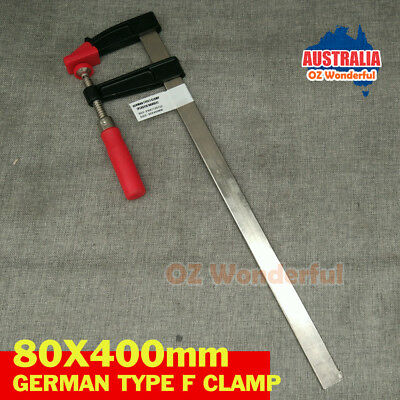 80 x 400mm F Clamps Germany Type F Clamps PLASTIC HANDLE