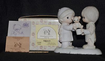 Precious Moments - Christmastime Is For Sharing- E0504 - Flame  Mark -Nib