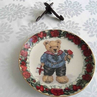 """Franklin Mint Teddy Plate """"Love Letters from Teddy"""""""