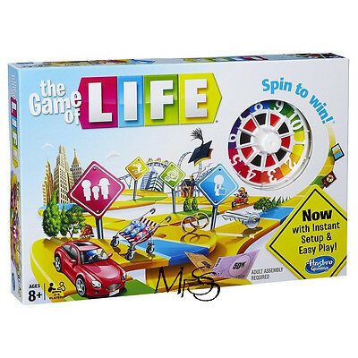 Hasbro The Game of Life Board Game - Spin to Win  *  Brand New