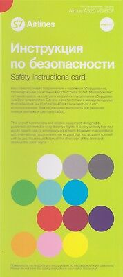 S7 Airlines Safety Card Airbus A320 VQ-BCF NEO