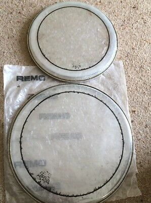 """Remo 10"""" &  12"""" Pinstripe drum heads Used"""