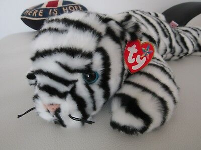 "TY Beanie Buddy 'White Tiger' 13"" - Mint Condition with tags"