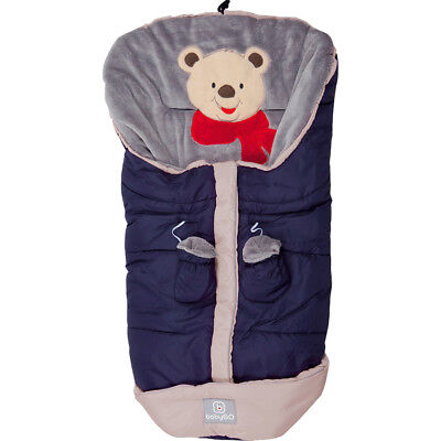 Fußsack Grau Kinderwagen Buggy Winter Winterfußsack Universal Thermo Fleece
